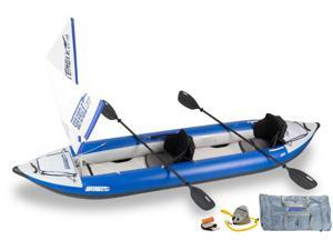 Sea Eagle Explorer Kayak 420 x Trade Quick Sail Package 420XK Quick Sail