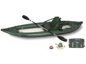 Sea Eagle FastTrack Inflatable Kayak 385FTG Green Deluxe Angler Package 385FTGK Deluxe Angler