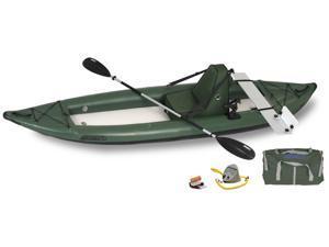 Sea Eagle FastTrack Inflatable Kayak 385FTG Green Deluxe Motormount Angler Package 385FTGK Dlx MM Angler
