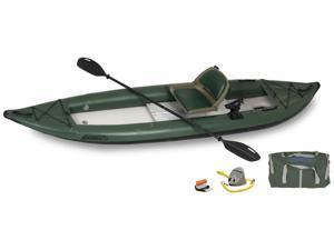 Sea Eagle FastTrack Inflatable Kayak 385FTG Green Pro Angler Package 385FTGK Pro Angler