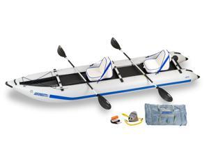 Sea Eagle Paddleski™ Inflatable Catamaran/Kayak 435PS Trade Deluxe Package 435PSK Deluxe