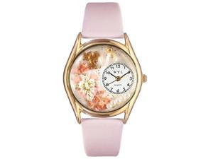 Valentine's Day Pink Pink Leather And Goldtone Watch #C1220013