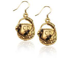 CD Player & Headphone Charm Earrings in Gold