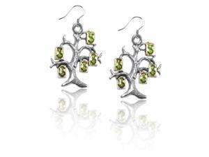 Money Tree Charm Earrings in Silver