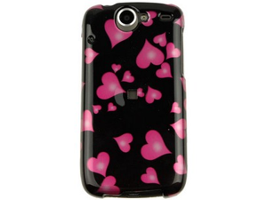 Reinforced Plastic Design Phone Cover Case Raining Hearts For Nexus One