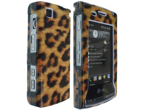 Solid Plastic Phone Design Protective Case Cover Leopard Skin For LG Incite CT810