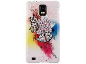Hard Plastic Butterfly Paradise Design Phone Protector Case for Samsung Infuse