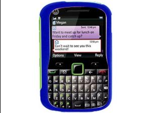 Rubberized Protector Phone Case Dark Blue For Motorola GRASP
