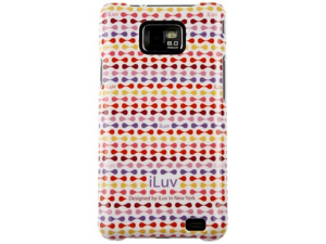jWIN Hard Plastic Shell Protector Red Pattern Original OEM ISS222USRED For Samsung Galaxy S II
