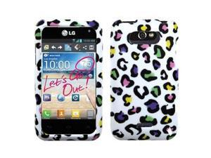 Colorful Leopard Image Hard Plastic Phone Cover Case for LG Motion 4G MS770