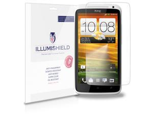 HTC One X+ Screen Protector [3-Pack], iLLumiShield - Japanese Ultra Clear HD Film with Anti-Bubble and Anti-Fingerprint - High Quality Invisible Shield - Lifetime Warranty