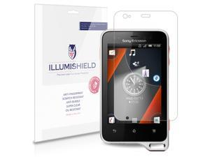Sony Ericsson Xperia Active Screen Protector [3-Pack], iLLumiShield - Japanese Ultra Clear HD Film with Anti-Bubble and Anti-Fingerprint - High Quality Invisible Shield - Lifetime Warranty