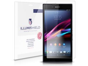 iLLumiShield – Sony Xperia Z Ultra Screen Protector Japanese Ultra Clear HD Film with Anti-Bubble & Anti-Fingerprint – High Quality Shield – Lifetime Replacement Warranty – 3-Pack Retail Packaging