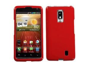 Hard Plastic Solid Flaming Red Phone Protector Case for LG Spectrum VS920