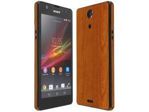 Skinomi Light Wood Full Body Skin+Screen Protector Cover for Sony Xperia ZR