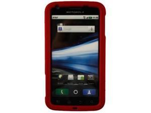 Rubberized Plastic Phone Case Red For Motorola ATRIX 4G