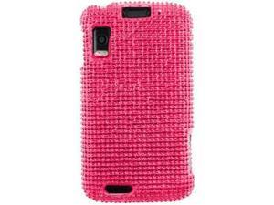 Motorola Olympus Atrix 4G MB860 Hard Case Cover - Hot Pink w/ Full Rhinestones