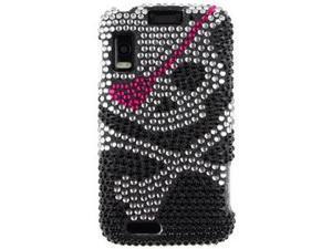 Hard Diamond Design Phone Protector Case Skull for Motorola ATRIX 4G