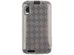 Flexible Plastic TPU Phone Protector Cover Case Clear Checkered For Motorola ATRIX 4G