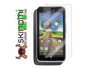 Skinomi Full Body Brushed Steel Skin+Screen Protector for Motorola Atrix HD