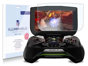 "NVIDIA Project Shield 5"" Screen Protector [2-Pack], iLLumiShield - (HD) Blue Light UV Filter / Premium Clear Film / Anti-Fingerprint / Anti-Bubble Shield - Lifetime Warranty"