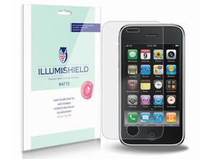 Apple iPhone 3GS Screen Protector (Apple iPhone 3G)[3-Pack], iLLumiShield - Anti-Glare (Matte) HD Clear Film / Anti-Bubble & Anti-Fingerprint / Japanese Invisible Shield + Lifetime Warranty