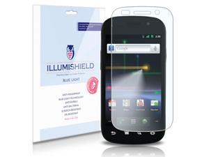 Samsung Nexus S Screen Protector (Google Nexus S)[2-Pack], iLLumiShield - (HD) Blue Light UV Filter / Premium Clear Film / Anti-Fingerprint / Anti-Bubble Shield - Lifetime Warranty