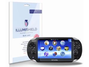 Sony Playstation Vita Screen Protector (PS Vita)[2-Pack](Wi-Fi), iLLumiShield - (HD) Blue Light UV Filter / Premium Clear Film / Anti-Fingerprint / Anti-Bubble Shield - Lifetime Warranty