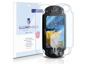 Sony Playstation PS Vita Screen Protector (3G)[2-Pack], iLLumiShield - (HD) Blue Light UV Filter / Premium Clear Film / Anti-Fingerprint / Anti-Bubble Shield - Lifetime Warranty