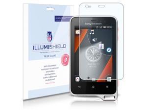Sony Ericsson Xperia active Screen Protector [2-Pack], iLLumiShield - (HD) Blue Light UV Filter / Premium Clear Film / Anti-Fingerprint / Anti-Bubble Shield - Lifetime Warranty