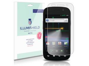 Samsung Nexus S Screen Protector (Google Nexus S)[3-Pack], iLLumiShield - Anti-Glare (Matte) HD Clear Film / Anti-Bubble & Anti-Fingerprint / Japanese Invisible Shield + Lifetime Warranty