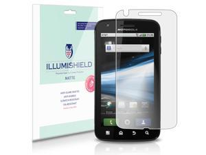 Motorola ATRIX 4G Screen Protector [3-Pack], iLLumiShield - Anti-Glare (Matte) HD Clear Film / Anti-Bubble & Anti-Fingerprint / Japanese Invisible Shield + Lifetime Warranty