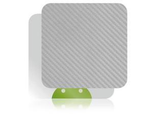 Skinomi Carbon Fiber Silver Skin TV Streamer Cover for Pivos XIOS DS Media Play