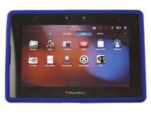 Silicone Tablet Cover Skin Case Dark Blue For BlackBerry Playbook