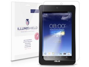 Asus MeMo Pad HD7 Screen Protector [3-Pack], iLLumiShield - Japanese Ultra Clear HD Film with Anti-Bubble and Anti-Fingerprint - High Quality Invisible Shield - Lifetime Warranty