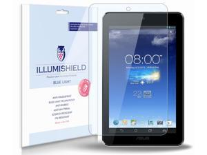 ASUS MeMo Pad 7 Screen Protector (ME172V-A1-GR)[2-Pack], iLLumiShield - (HD) Blue Light UV Filter / Premium Clear Film / Anti-Fingerprint / Anti-Bubble Shield - Lifetime Warranty