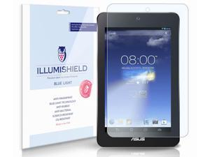 Asus MeMo Pad HD7 Screen Protector [2-Pack], iLLumiShield - (HD) Blue Light UV Filter / Premium Clear Film / Anti-Fingerprint / Anti-Bubble Shield - Lifetime Warranty