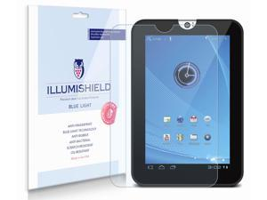 "Toshiba Thrive 7"" Screen Protector [2-Pack], iLLumiShield - (HD) Blue Light UV Filter / Premium Clear Film / Anti-Fingerprint / Anti-Bubble Shield - Lifetime Warranty"