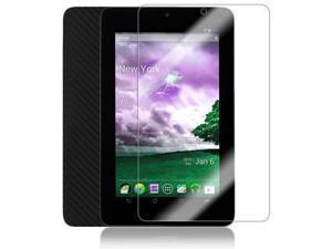 Skinomi Carbon Fiber Tablet Skin+Screen Protector for Asus MeMo Pad 7 in ME172V