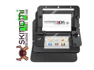 Skinomi Full Body Brushed Steel Game Skin+Screen Protector for Nintendo 3DS XL