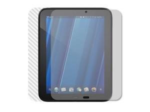 Skinomi TechSkin HP TouchPad Silver Carbon Fiber Skin Protector