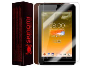 Skinomi Tablet Skin Dark Wood Cover+Clear Screen Protector for Asus MeMo Pad HD7