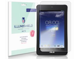 Asus MeMo Pad HD7 Screen Protector [3-Pack], iLLumiShield - Anti-Glare (Matte) HD Clear Film / Anti-Bubble & Anti-Fingerprint / Japanese Invisible Shield + Lifetime Warranty