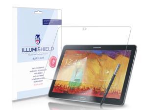 Samsung Galaxy Note 10.1 Screen Protector (2014 Edition)[1-Pack], iLLumiShield - (HD) Blue Light UV Filter / Premium Clear Film / Anti-Fingerprint / Anti-Bubble Shield - Lifetime Warranty