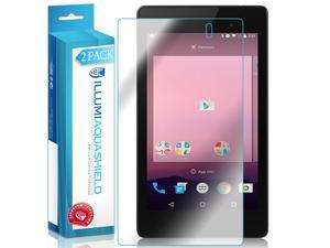 Nexus 7 Screen Protector (2016)(2-Pack), ILLUMI AquaShield Full Coverage Screen Protector for Nexus 7 HD Clear Anti-Bubble Film - Lifetime Warranty