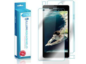 Sony Xperia ZR Screen Protector + Back Cover (2-Pack), ILLUMI AquaShield Full Coverage Back and Front Screen Protector for Sony Xperia ZR HD Clear Anti-Bubble Film - Lifetime Warranty