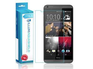 HTC Desire 816 Screen Protector (2-Pack), ILLUMI AquaShield Full Coverage Screen Protector for HTC Desire 816 HD Clear Anti-Bubble Film - Lifetime Warranty