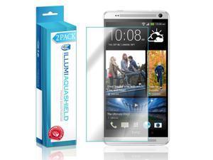 HTC One Max Screen Protector (2-Pack), ILLUMI AquaShield Full Coverage Screen Protector for HTC One Max HD Clear Anti-Bubble Film - Lifetime Warranty