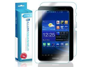 Samsung Galaxy Tab 2 7.0 Screen Protector + Back Cover (2-Pack), ILLUMI AquaShield Full Coverage Back + Front Screen Protector for Samsung Galaxy Tab 2 7.0 HD Clear Anti-Bubble Film Lifetime Warranty
