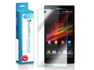 Sony Xperia Z Screen Protector (2-Pack), ILLUMI AquaShield Full Coverage Screen Protector for Sony Xperia Z HD Clear Anti-Bubble Film - Lifetime Warranty